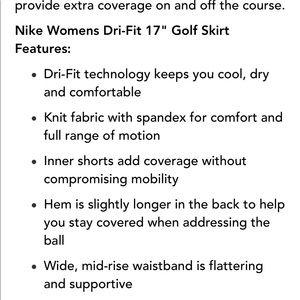 Nike Skirts - Size large black Nike dry fit golf skirt 🏌️♀️